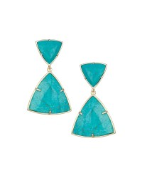 Kendra scott Maury Turquoise Magnesite Earrings in Blue