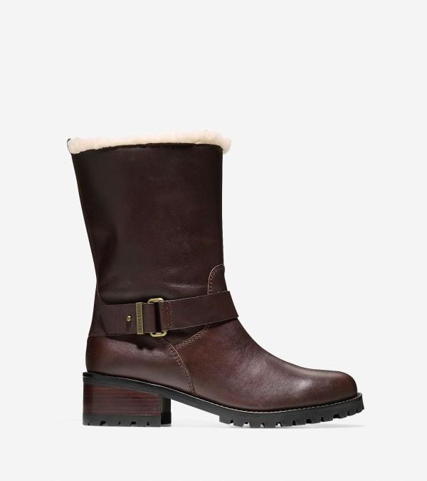 Cole Haan Champlain Waterproof Boot 40mm In Brown Lyst