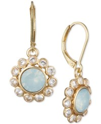 Anne klein Gold-tone Crystal And Stone Drop Earrings in ...