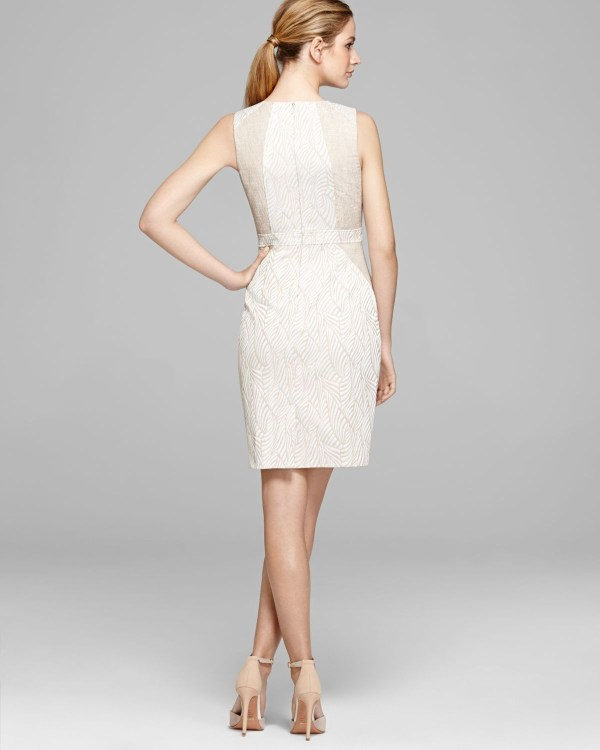 Lyst - Calvin Klein Dress Sleeveless Print In White
