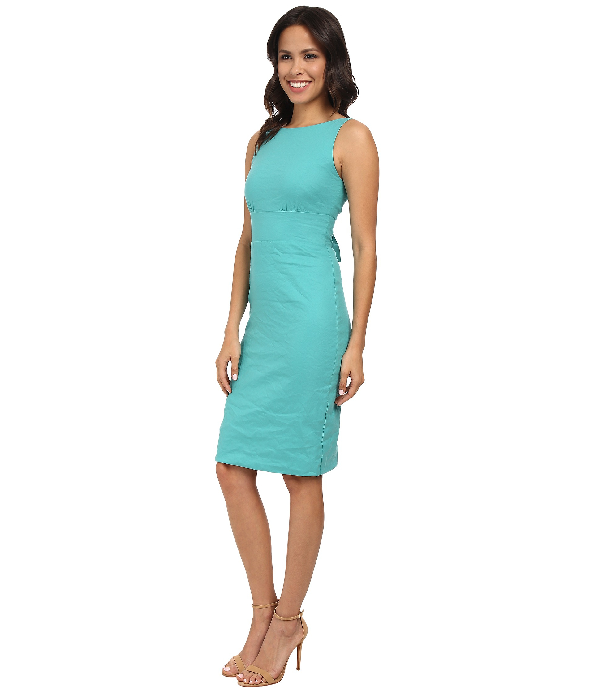 Lyst  Nicole Miller Tieback Garden Party Dress in Blue