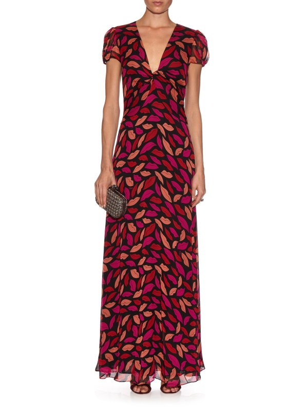 Diane Von Furstenberg Adrienne Dress In Red - Lyst