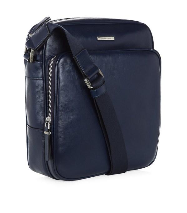 Michael Kors Leather Flight Bag In Blue Men Lyst