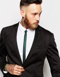 Lyst - Asos Skinny Tie in Green for Men