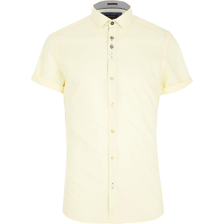 Short Dress Sleeves Rolled Sleeve Shirt Men