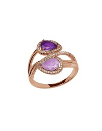 Lyst - Lord & Taylor 0.22k Diamond, Amethyst And 14k Rose ...