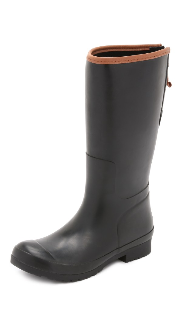 Sperry Top-sider Walker Mist Rain Boots - Black In