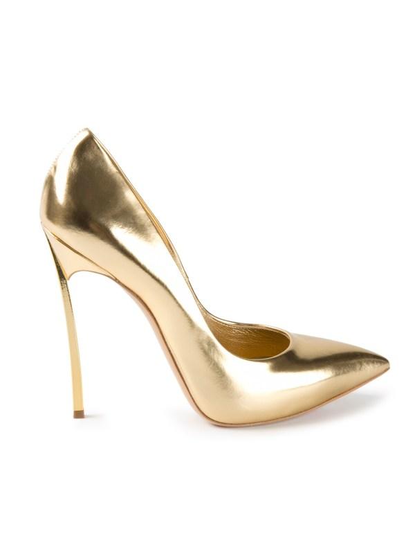 Lyst - Casadei High Heel Pumps In Metallic