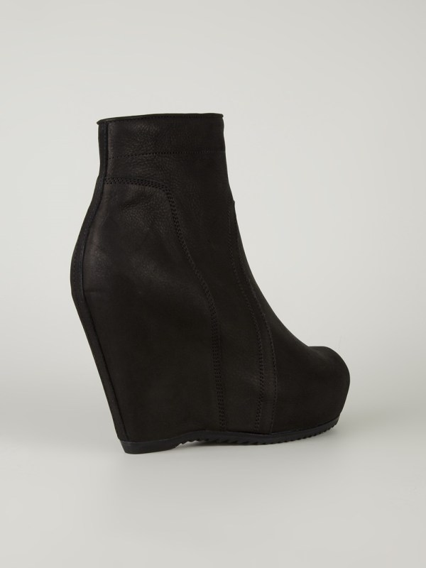 390558ad1a2 Lyst Rick Owens Wedge Boots In Black - imgUrl