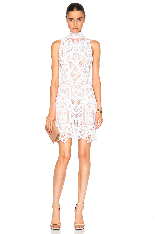 Lyst  Jonathan Simkhai Tower Lace Mini Dress in White