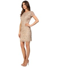 Adrianna papell Short Sleeve Beaded Cocktail Dress in