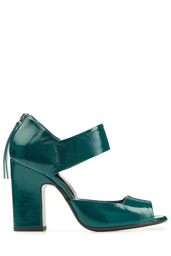 Pierre Hardy Patent Leather Pumps In Green Lyst