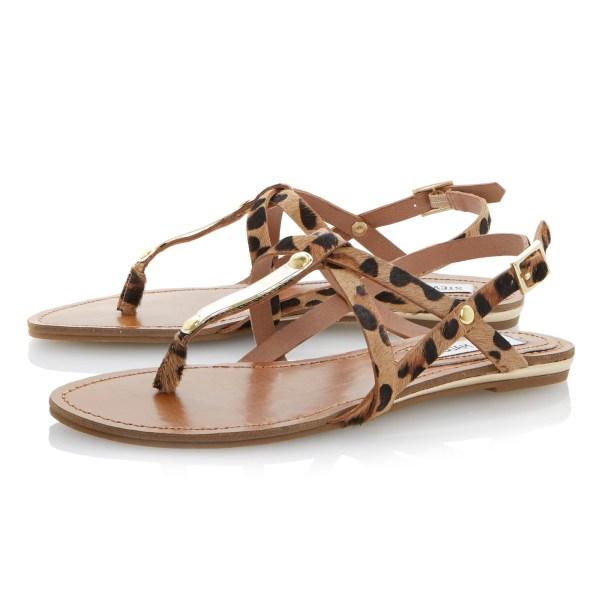 Steve Madden Henna Pony Flat Sandals In Brown Lyst