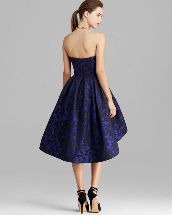 Ml Monique Lhuillier Dress - Strapless Print High In Blue Lyst