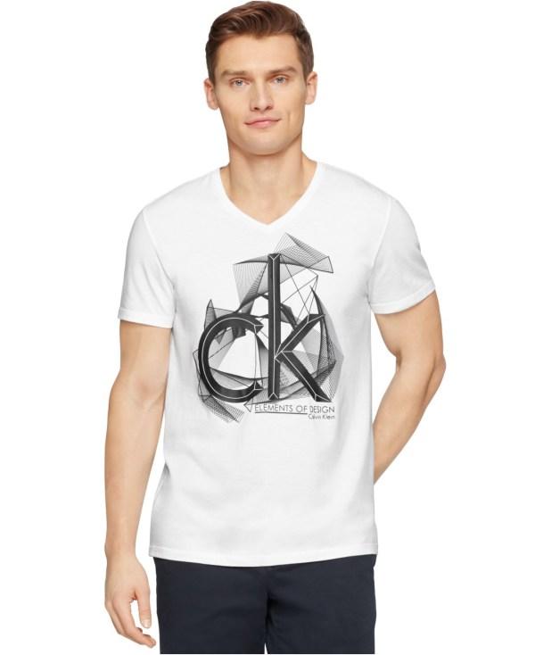 a75409206932 Lyst - Calvin Klein Ck Logo Graphic Slim-fit T-shirt In White Men