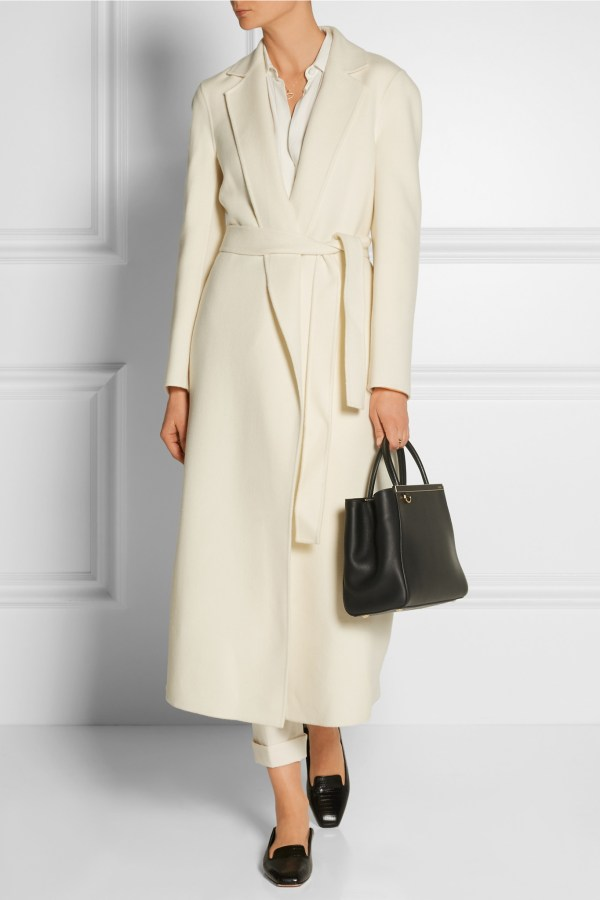 Lyst - Joseph Kido Wool And Cashmere-blend Coat In White