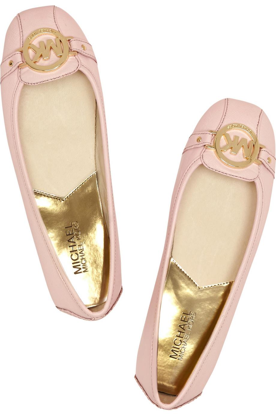 78f8aee7b771 Lyst Michael Michael Kors Fulton Textured Leather Ballet