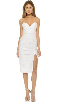 Nicholas Wave Lace Sweetheart Dress in White | Lyst