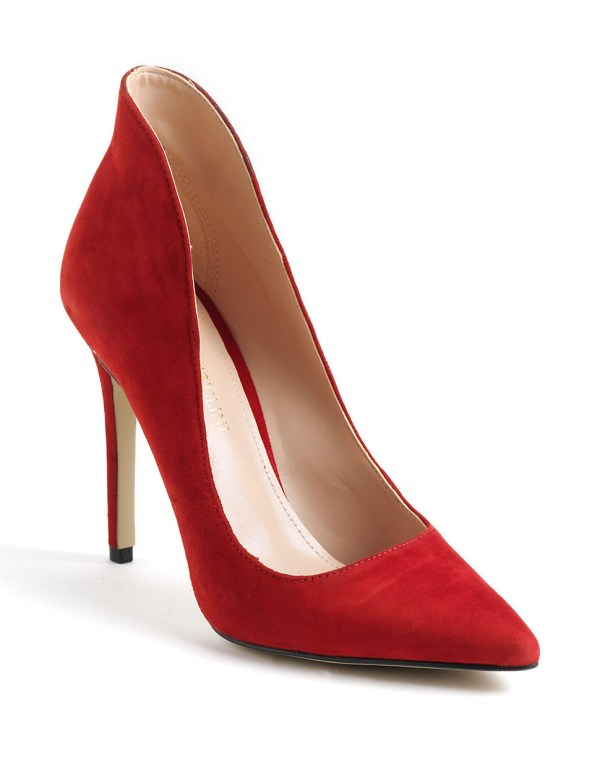 Enzo Angiolini Fayson Suede Pumps In Red Lyst