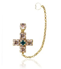 Tory Burch Jeweled Drop Earring Cuff in Gold (MULTI/AGED ...