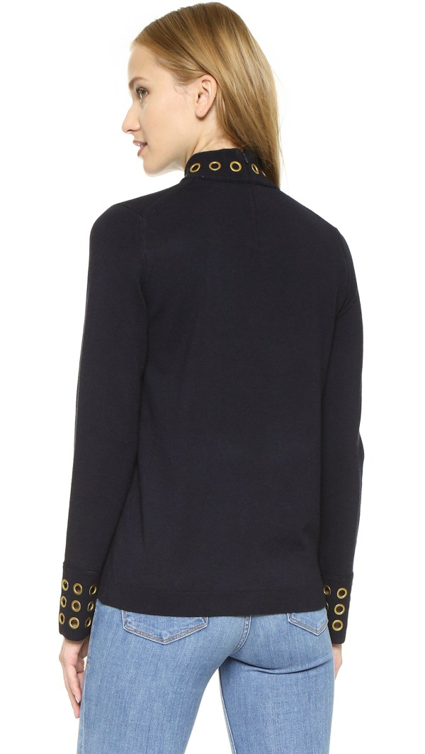 Lyst - Tory Burch Grommet Turtleneck Sweater Med Navy In