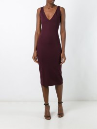 Lyst - Dsquared Fitted Mid-length Dress in Red