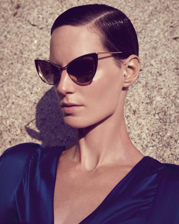 Lyst - Tom Ford Nastasya Metal Cateye Sunglasses In Black