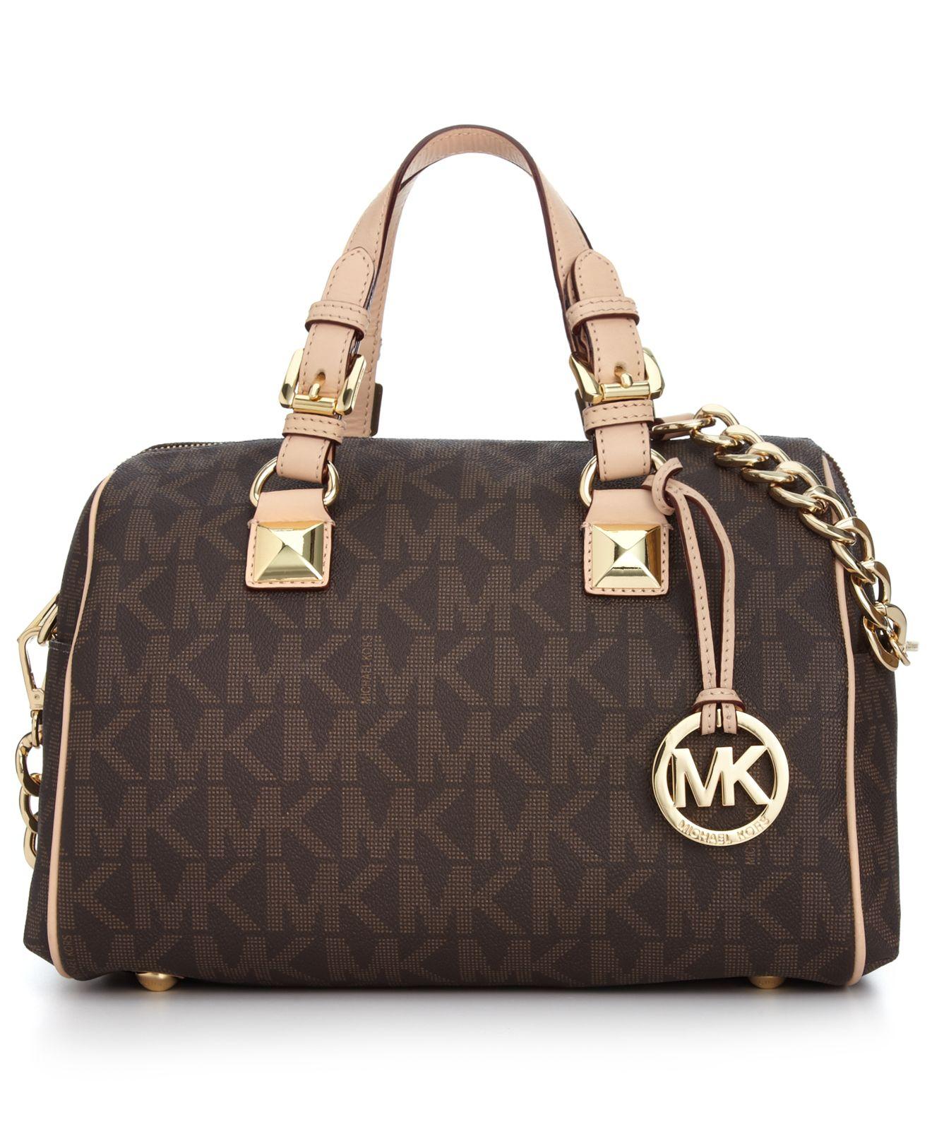 michael kors handbag grayson monogram medium satchel