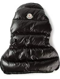 Moncler Padded Dog Coat in Black