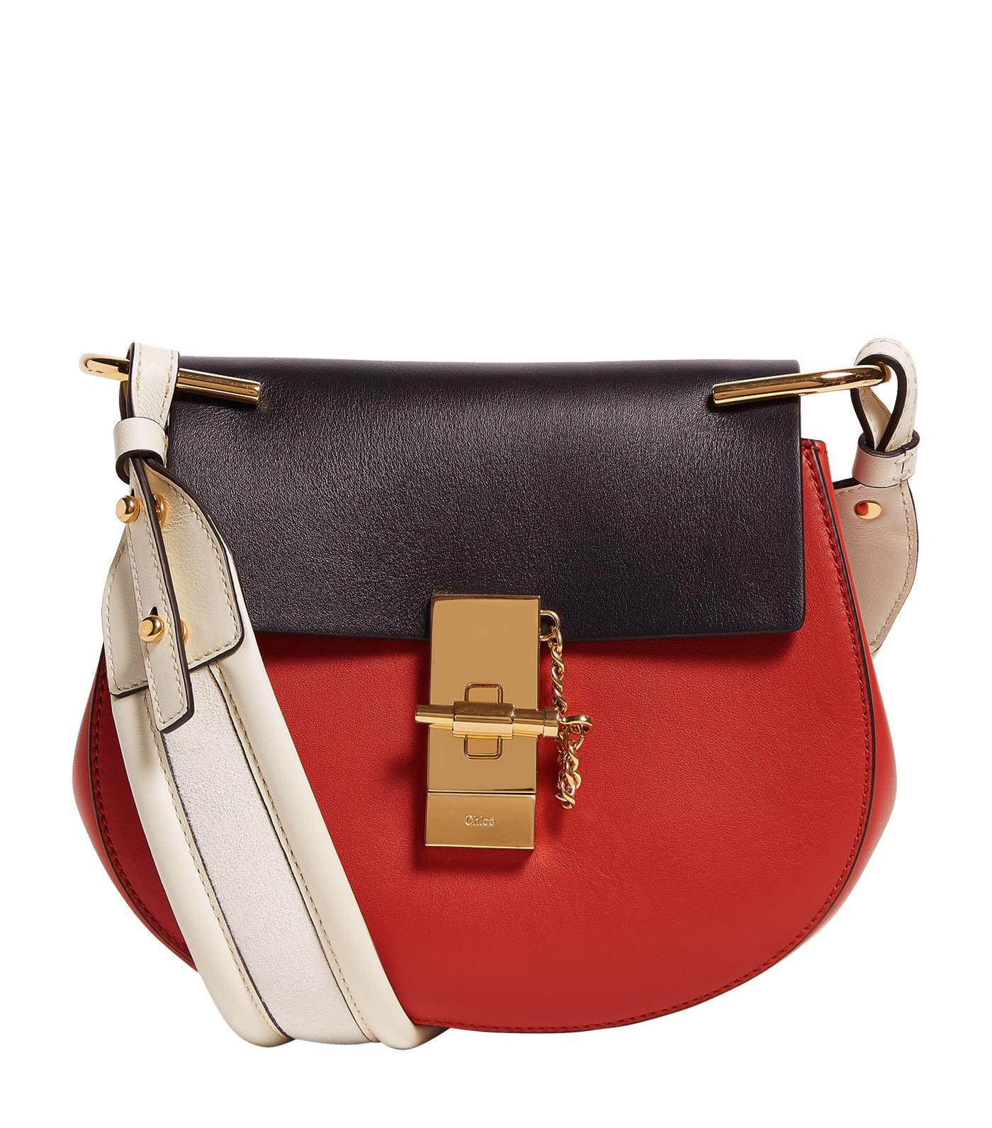 Chloé Mini Drew Striped Shoulder Bag - Lyst
