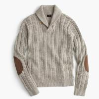 J.crew Cotton Mariner Shawl-collar Sweater in Natural for ...