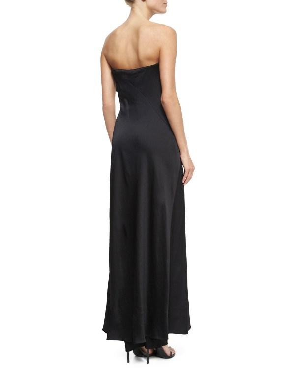 137e16d27ab7 ... Donna Karan Strapless Wrap Jumpsuit In Black Lyst ...