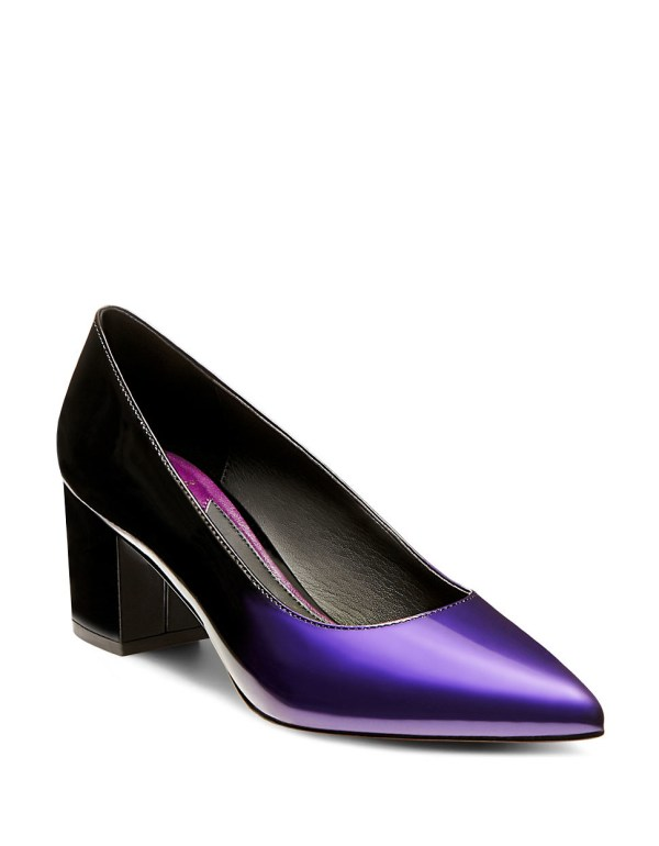 Brian Atwood Kacie Patent Leather Pumps In Purple Lyst