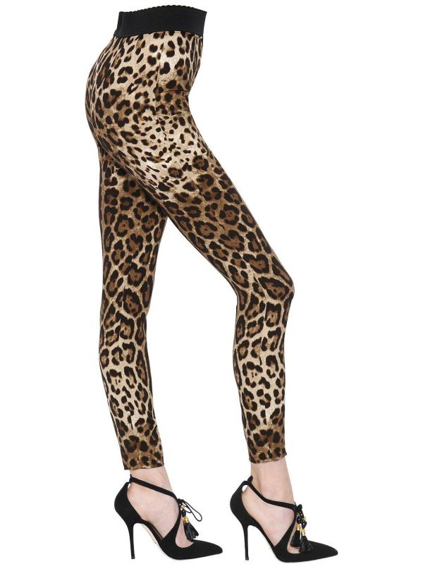 Blue Leopard Print Leggings