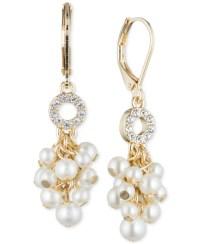 Anne klein Gold-tone Pav Imitation Pearl Shaky Drop ...
