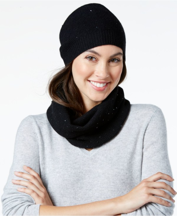 Lyst - Charter Club Cashmere Sequined Hat & Infinity Scarf