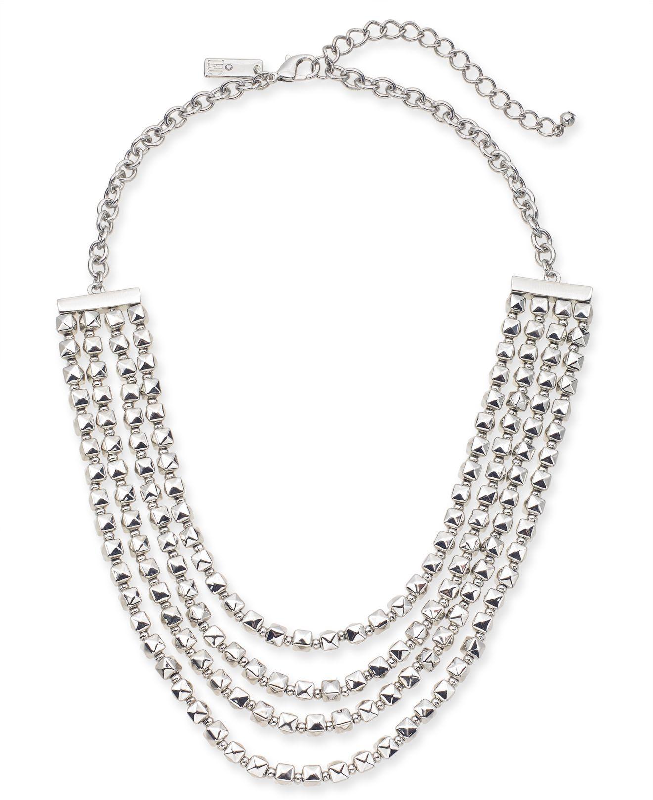 Inc International Concepts I N C Silver Tone Nugget Bead