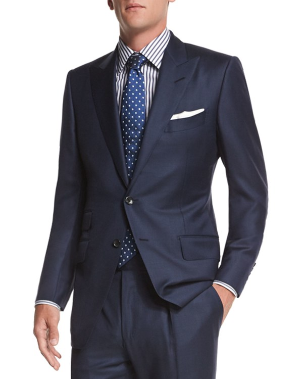 Tom Ford 'connor Base Sharkskin Two-piece Suit In Black