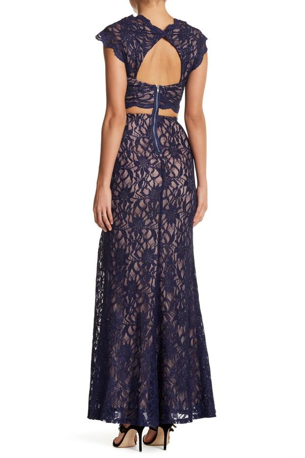 Lyst - City Triangles Lace Cutout Dress In Blue