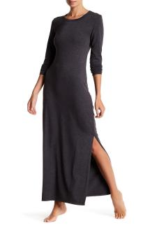 Barefoot Dreams Long Sleeve Knit Dress In Black Lyst