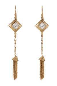 Melinda maria Selena Cz Drop Earrings in Metallic