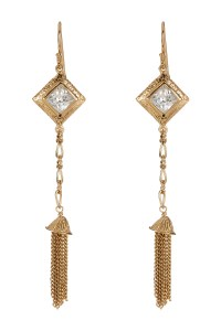 Melinda maria Selena Cz Drop Earrings in Metallic | Lyst