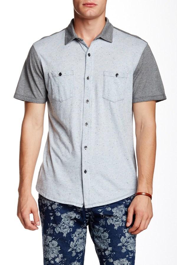Howe Dark Start Short Sleeve Regular Fit Shirt In Blue