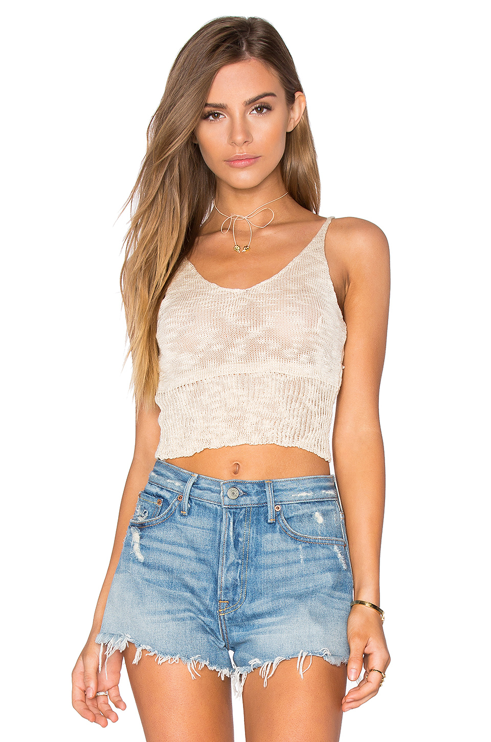 Lyst Lost In Lunar Sunset Knit Top In Natural