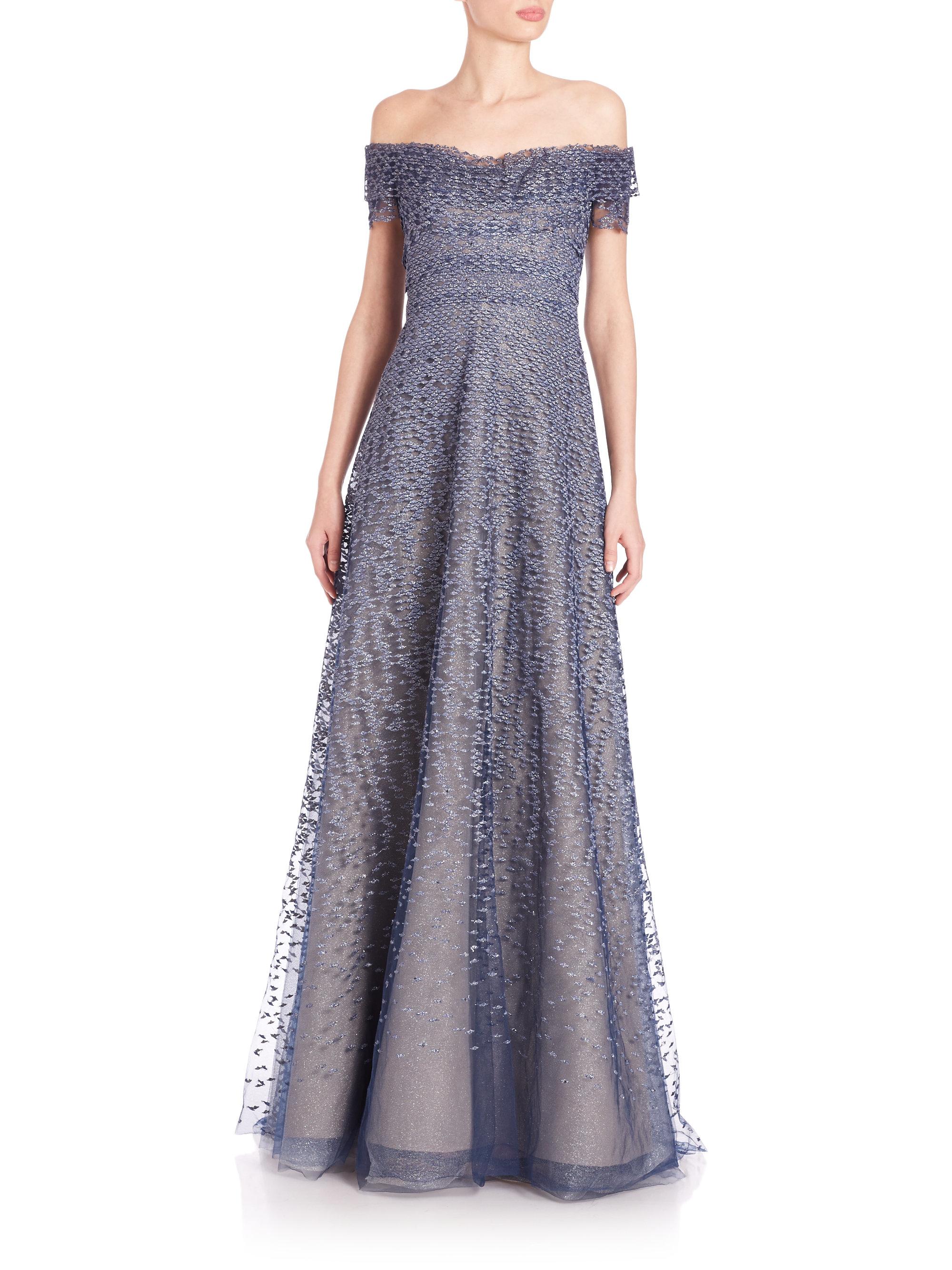 Lace Evening Gown Carolina Herrera