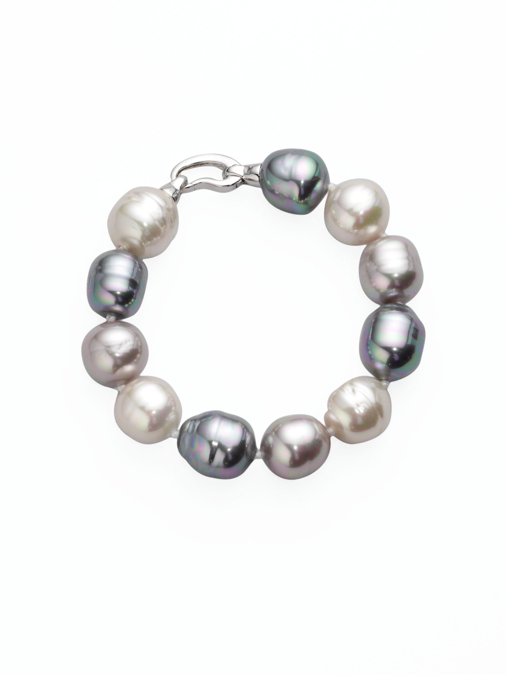 Majorica 14mm Multicolor Baroque Pearl & Sterling Silver