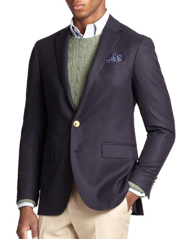 Lyst - Polo Ralph Lauren Doeskin Blazer In Blue Men