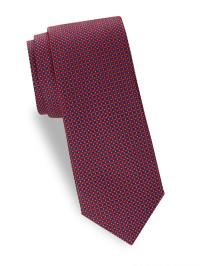 Saks Fifth Avenue Textured Silk Tie in Red for Men - Lyst