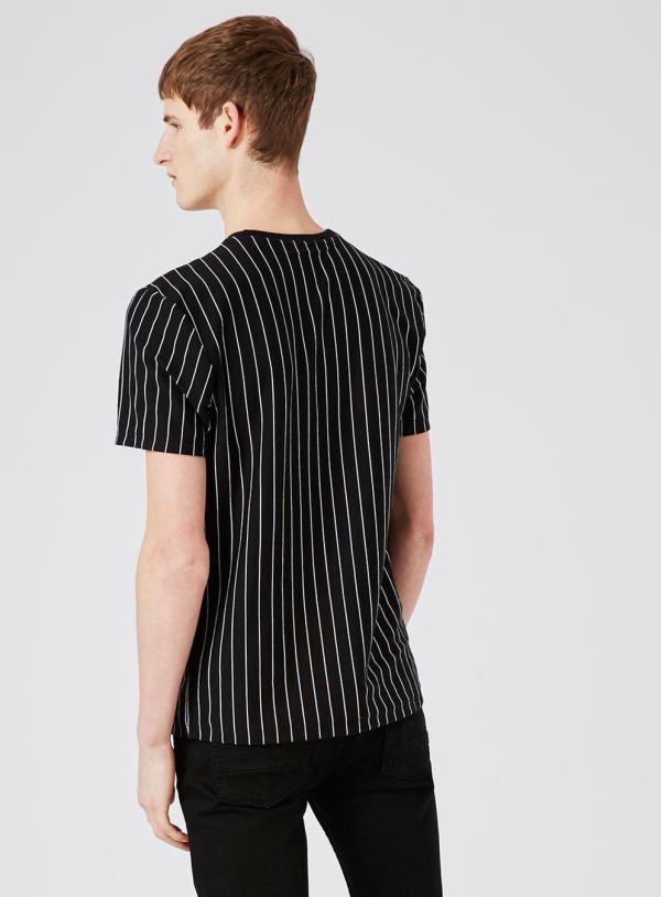 Topman Cotton Black And White Vertical Stripe T-shirt Men - Lyst
