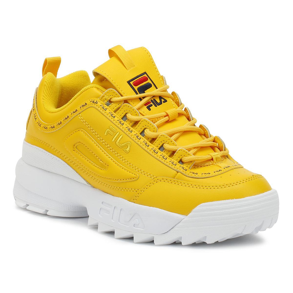 122cbc614033 Lyst Fila Disruptor Ii Premium Repeat Womens Citrus Yellow